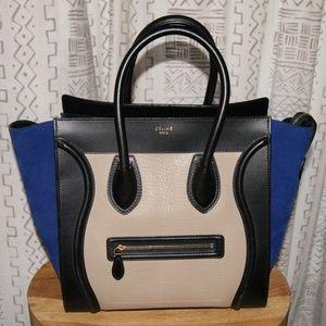 Celine | Mini Luggage Tri-Color Handbag